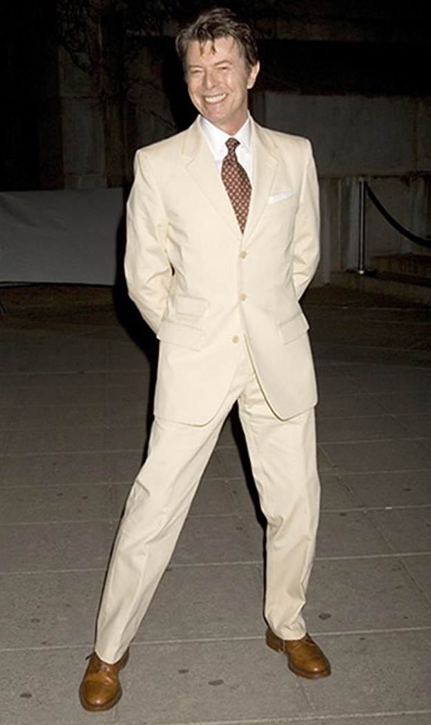 RF - David Bowie wearing his impeccably cut suit.